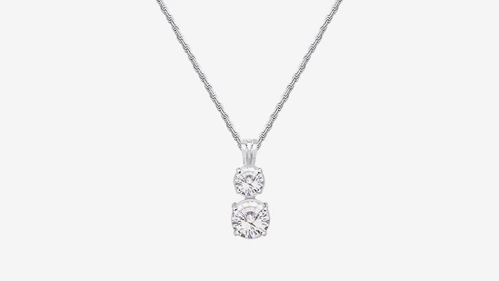 Colgante con Cristales Engarzados en Plata 950
